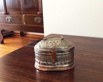 "Vintage Handmade Copper Turkish bath house (hamam) soap box (""KILDAN"")"