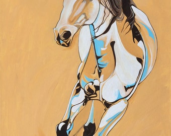 Equestrian Painting of Matrix (Blanc)
