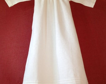 Noble christening gown of linen for boys