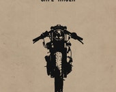 Cafe Racer Motorcycle Print - Limited Edition (11x17 in)