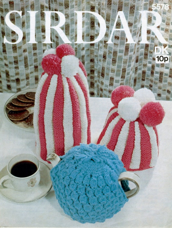 Tea Cosy / Coffee Cosy Patterns Patterned Or Striped With