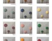 CUSTOM Billy Ball Flower Pillow in Natural Linen | Craspedia| by JillianReneDecor | Billy Button | Botanical Home Decor | Spring Wedding