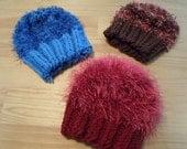 Hand Knit Chemo/Cancer Hats-Warm-Fuzzy-Fun