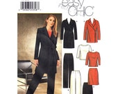 Womens Sewing Pattern Simplicity 9952 Lined Wrap Jacket, Top, Pants & Skirt Pattern Mix and Match Wardrobe Womens Size 12 14 16 18 UNCUT