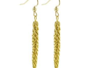 Long Gold Urban Weeds Earrings