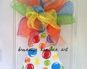 Birthday Boy Hat Door Hanger - Free Shipping - Bronwyn Hanahan Art
