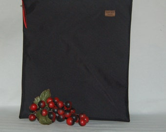 Sandwich Size Bag - Black Nylon - Reusable - Zippered Bag - Zipper Closure