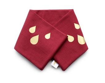 Drops, infinity Scarf, Kids. Double warm jersey scarf boy girl handmade winter fall