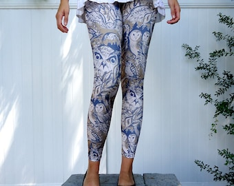 Owl Print Leggings
