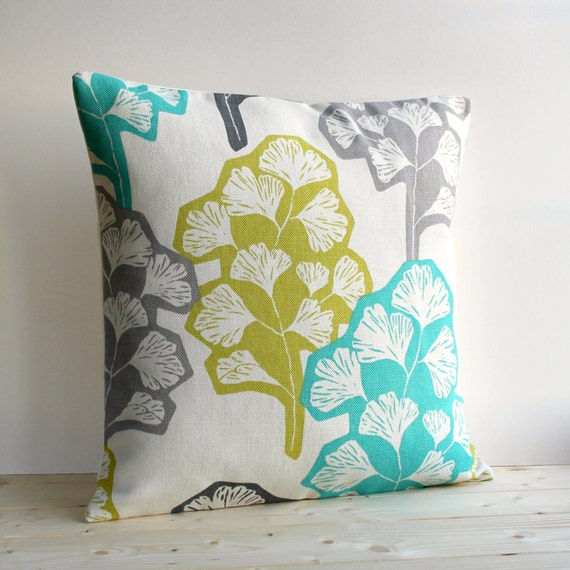 Contemporary Pillow Cover 16x16 Inch Modern Cushion by CoupleHome