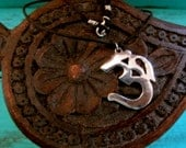 Giant Sterling Om Ohm Necklace