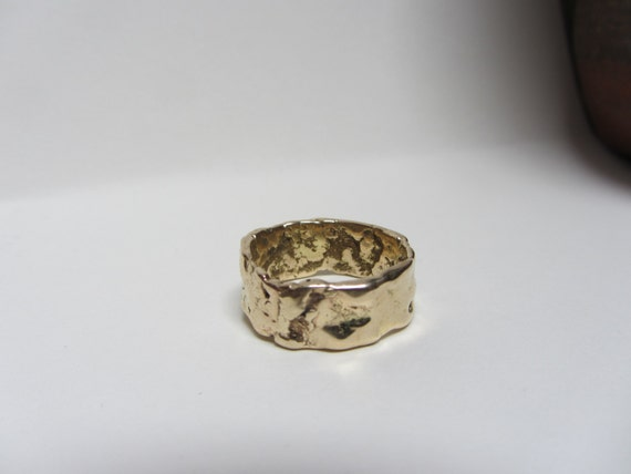 Recycled 14K Yellow Gold Wedding Band