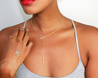 Triple Ring Bracelet Set, dainty bracelet set, delicate bracelet, gold hand chain, bohemian jewelry, gold slave bracelet, gold slave chain