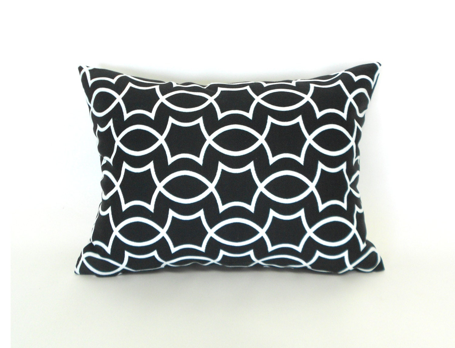 sale outdoor lumbar pillow covers decorative black and white. Black Bedroom Furniture Sets. Home Design Ideas