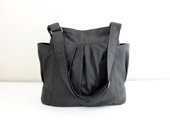 Handbags Cotton bag Canvas Bag Diaper bag Shoulder bag Hobo bag Tote bag Messenger bag Purse Everyday bag  Dark Gray  Jolie