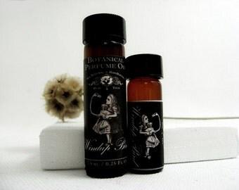 Botanical Perfume Oil. Windup Bird- Mossy Citrus, Bergamot, Water Flowers and Jasmine Tea.  Natural Perfume. Organic Essential Oils.