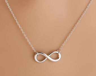 INFINITY Necklace : 925 Sterling Silver Necklace figure 8 with 18 inch rolo chain - hand made jewelry