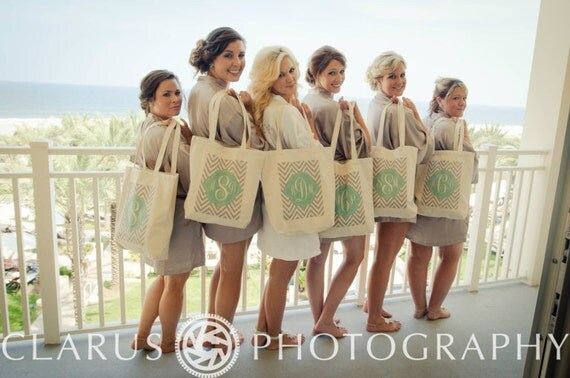 9 FRESH CHEVRON Tote Bag, Gift bags, Bridesmaid bags,in 60 colors to chose from by Modern Vintage Market