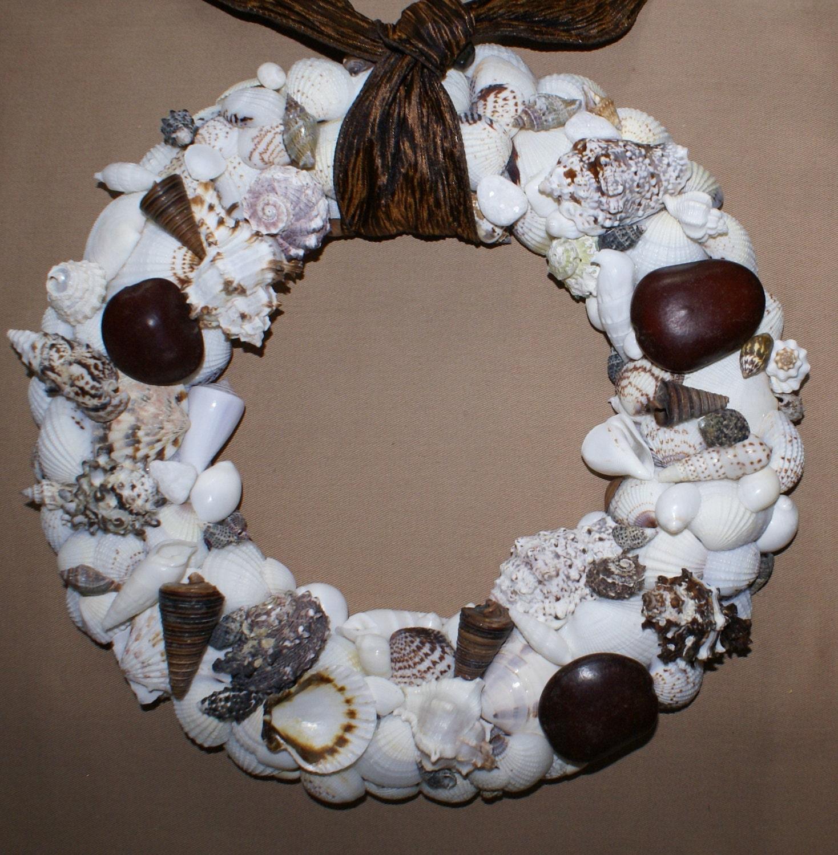 Shell Wreath 13 Inch Wreath Seashell Wreath By Justshellin