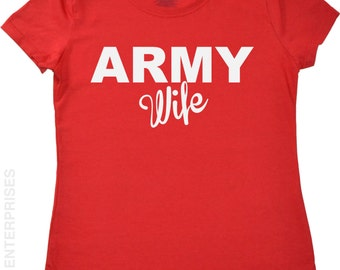 July 4th Tshirt for Women Army Wife shirt Proud American Canadian Pride Shirt Fourth of July Military T-shirt for Girlfriend Fiance Wife