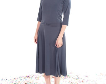 Midi dress,Boatneck dress,Minimalist dress,elegant midi dress,Neon dress,Stretchy dress,Bridesmaids dress,Mid length dress,Tea length dress