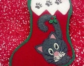 Personalized Kitty Cat Christmas Stocking