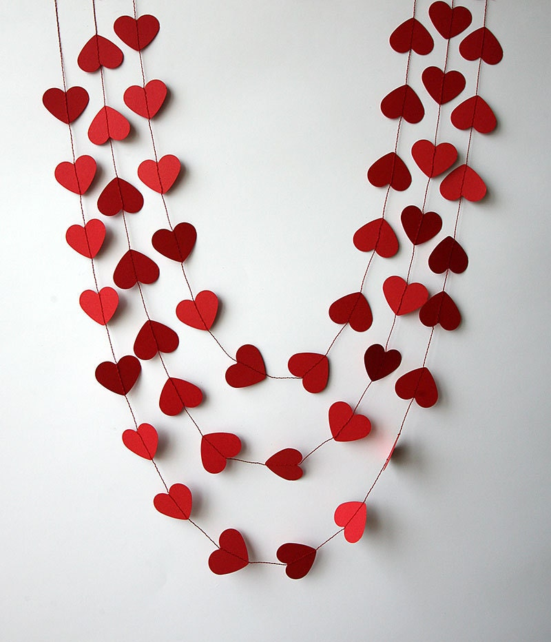 valentines day decor valentine decor heart garland