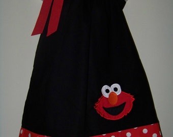 Elmo Pillowcase Dress / 123 Sesame Street / Character / Big Bird / Infant / Baby / Girl / Toddler / Handmade / Custom Boutique Clothing
