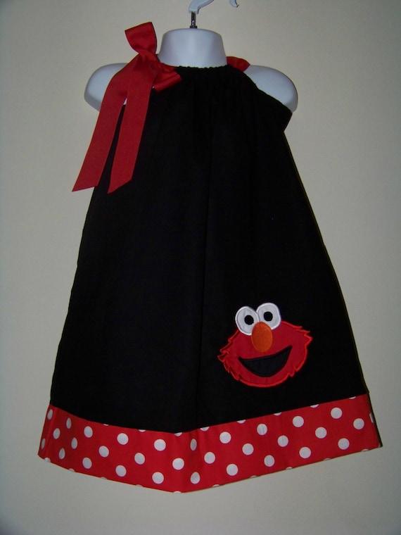 Elmo Pillowcase Dress 123 Sesame Street Character Big