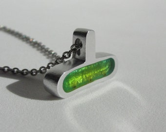 Contemporary Green Necklace - Contemporary Jewelry Design