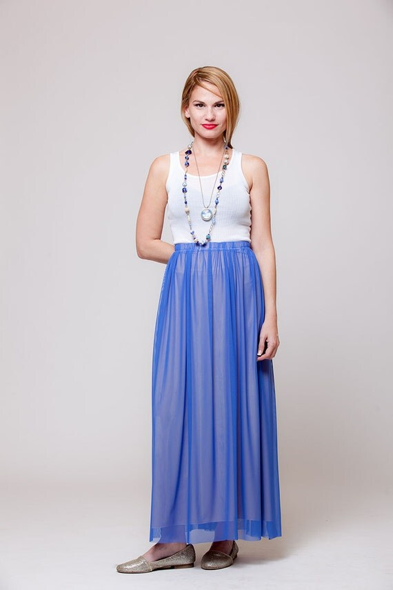 blue skirt chiffon skirts maxi skirt