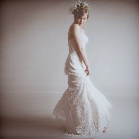 Eco & Fair Trade Marie Wedding Dress: Vintage Inspired Lace Tiers