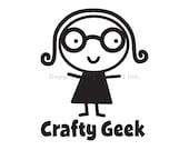 Crafty Geek Vinyl Car Decal -  Car Design, Laptop Sticker, Window Decal, Personalized Dec