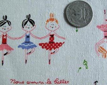 Lilttle BALLET Dancers Japanese/French Fabric 1FQ