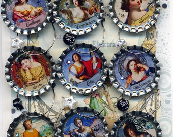 Greek Muses wine beer and drink charms