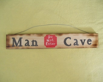 Wooden Man Cave Sign