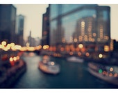 Chicago Photography - City Photograph - Rivertown 2 - Original Fine Art Photograph - Chicago River - Architecture - Abstract - Boat - Bock