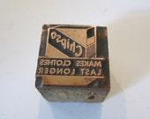 Chipso Laundry Soap Vintage Letterpress Printers Block