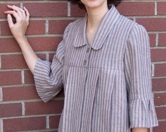 Redwoods tunic in striped linen