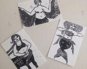 Fat Monster Postcard Set