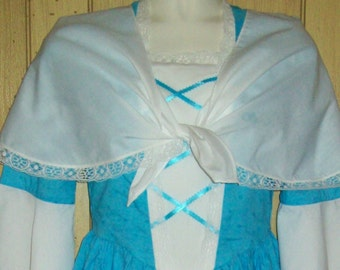 Girls Colonial Shawl Fichu Scarf, Pioneer, Prairie, Costume