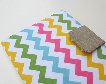 iPad Mini Cover Kindle Fire Cover Nook Simple Touch Cover Kobo Cover Case Chevron Zig Zag Pink Blue Green Yellow Multicolor eReader