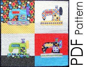 Sewing Machine Applique Quilt