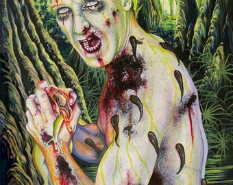 RW2 Signed Limited Edition Print 12 x 18 ZOMBIE Dissection