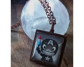 Handcrafted Art Pendant: Captain America and his Bomb Pop