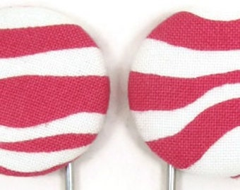 Set of 2 Jumbo Paperclips in Hot Pink and White