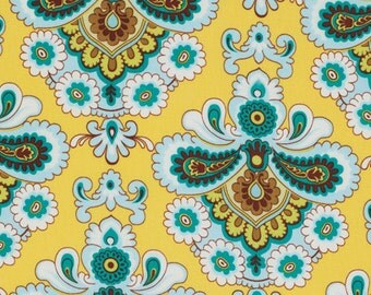 BELLE by  Amy Butler Fabric / French Wallpaper in Mustard / 1 Yd Quilt Apparel Fabric
