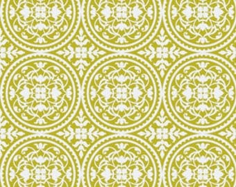 Scrollwork in Green by Joel Dewberry / True Colors for Free Spirit  /  1 /2yard Cotton Quilting  Apparel Fabric