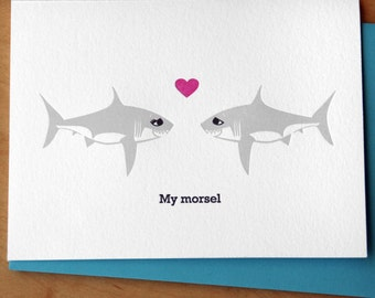Shark Love - Letterpress Card