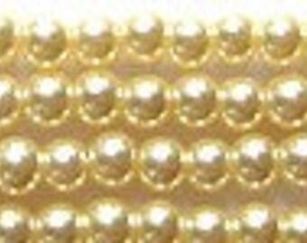 3mm Elegant Vanilla Glass Pearls 50 pcs